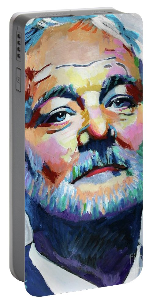 Bill Murray Portable Battery Charger featuring the painting Bill Murray by Venus