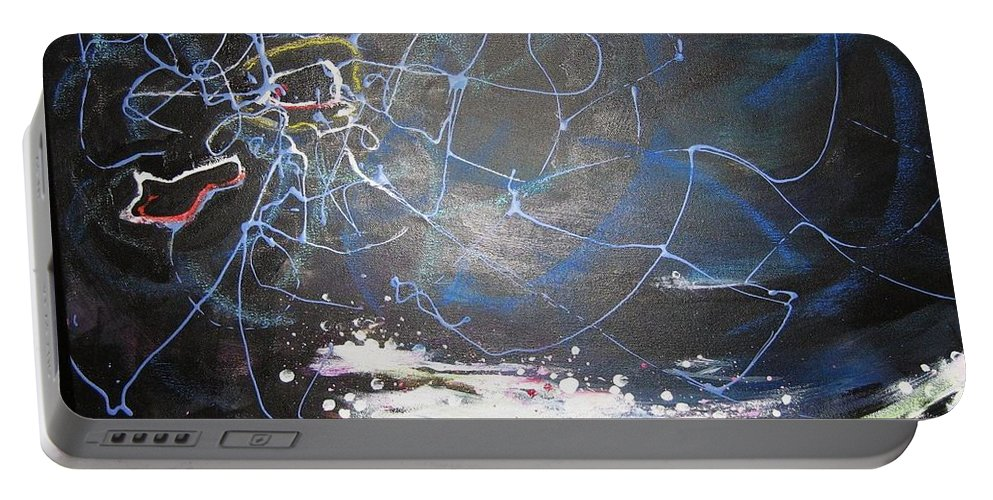 Abstract Paintings Portable Battery Charger featuring the painting Buckwheat Field by Seon-Jeong Kim