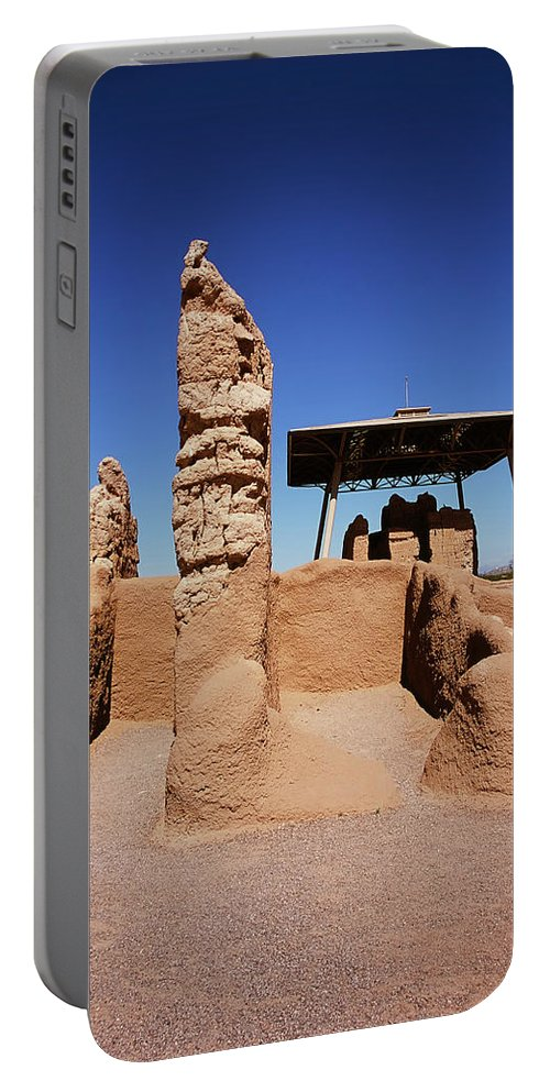 Abandoned Portable Battery Charger featuring the photograph Casa Grande Ruins by Paul Moore