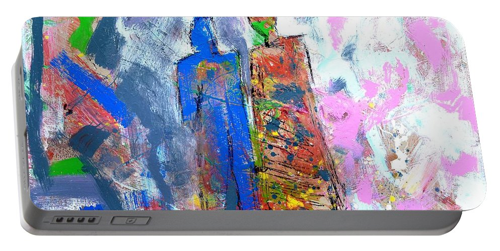 Figurative Portable Battery Charger featuring the painting Challenge 2017 - Save Europe Www.gracedivine.com by Grace Divine