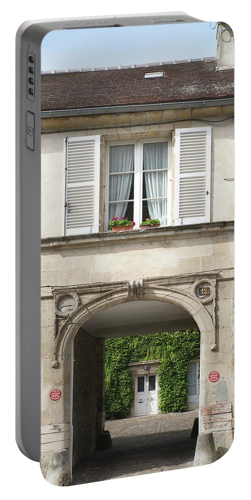 Chantilly Portable Battery Charger featuring the digital art Chantilly France Street Scenes by Carol Ailles