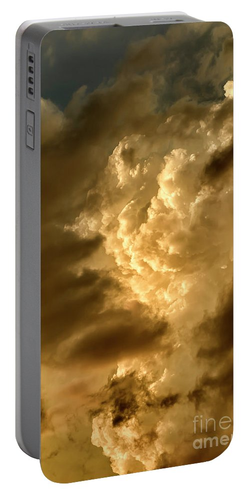 Clouds Portable Battery Charger featuring the photograph Clouds At Sunset by Thomas R Fletcher