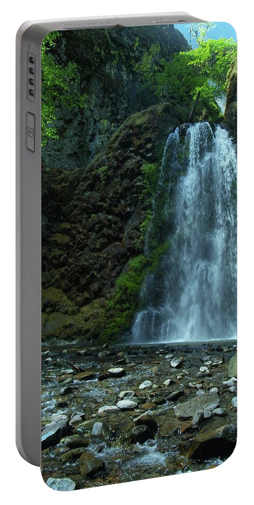Waterfall Portable Battery Charger featuring the photograph Fall Creek Falls by Teri Schuster