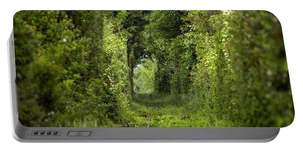 Arch Portable Battery Charger featuring the photograph Famous Tunnel Of Love Location by Sandra Rugina