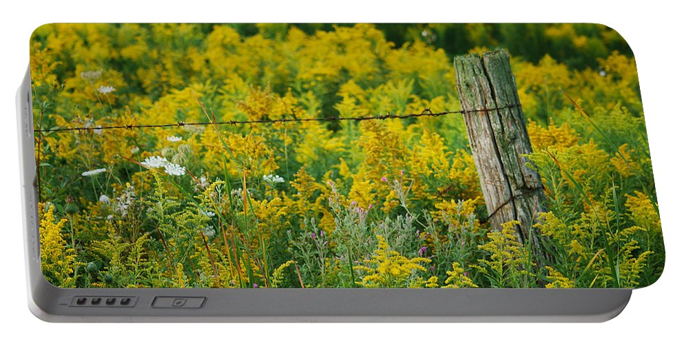 Landscape Portable Battery Charger featuring the photograph Fence Post by Michael Peychich