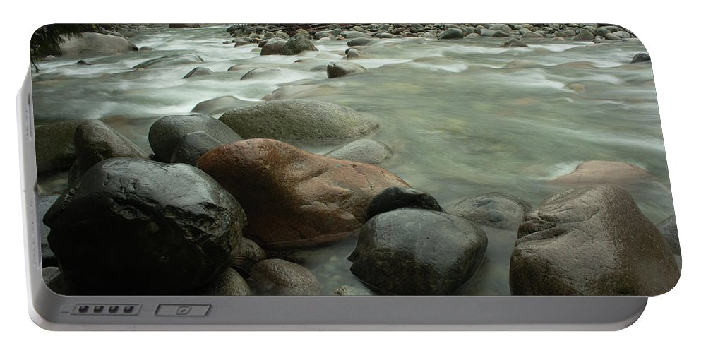 Granite Portable Battery Charger featuring the photograph Granite And Water, Lynn Creek by Niall Flinn