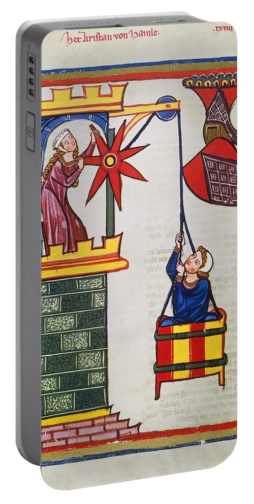 14th Century Portable Battery Charger featuring the photograph HEIDELBERG LIEDER, 14th C by Granger