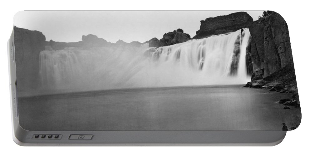 1868 Portable Battery Charger featuring the photograph Idaho: Shoshone Falls by Granger