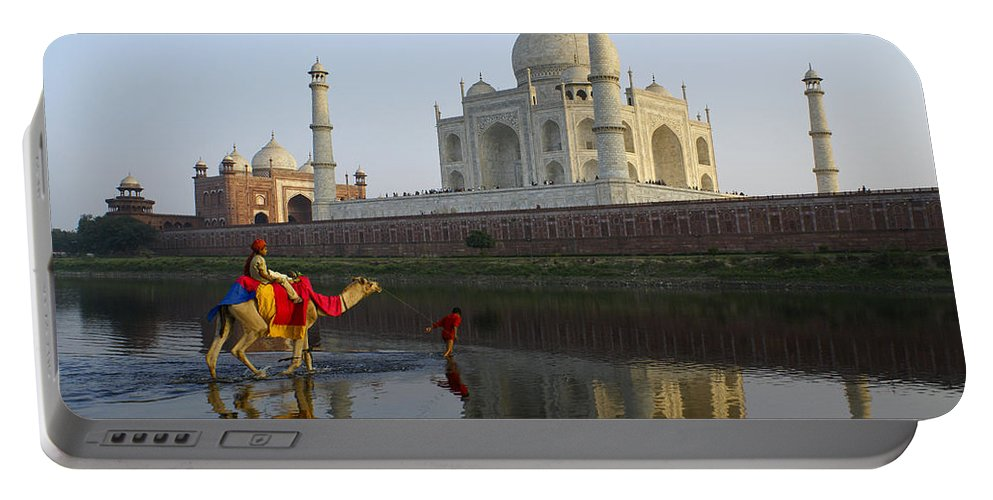 Taj Mahal Portable Battery Charger featuring the photograph India's Taj Mahal by Michele Burgess