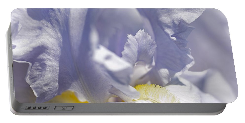 Genus Iris Portable Battery Charger featuring the photograph Iris Flowers by Tony Cordoza