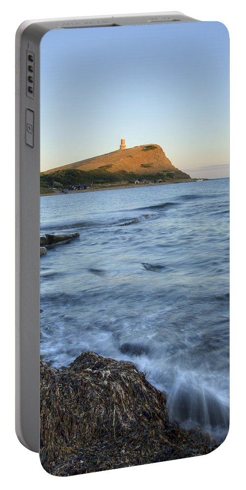 Kimmeridge Portable Battery Charger featuring the photograph Kimmeridge Bay In Dorset by Ian Middleton