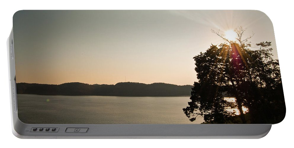 Lake Portable Battery Charger featuring the photograph Lake Cumberland Sunset by Amber Flowers