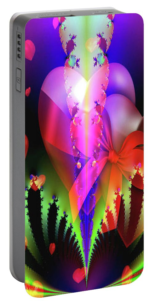 Greeting Cards Portable Battery Charger featuring the digital art Love And Devotion by Mitchell Watrous