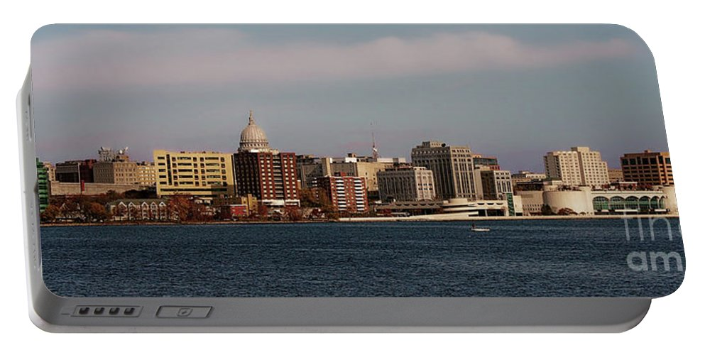 Madison Portable Battery Charger featuring the photograph Madison Wisconsin by Tommy Anderson