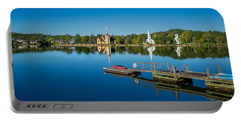 Canada Portable Battery Charger featuring the photograph Mahone Bay by Mark Llewellyn