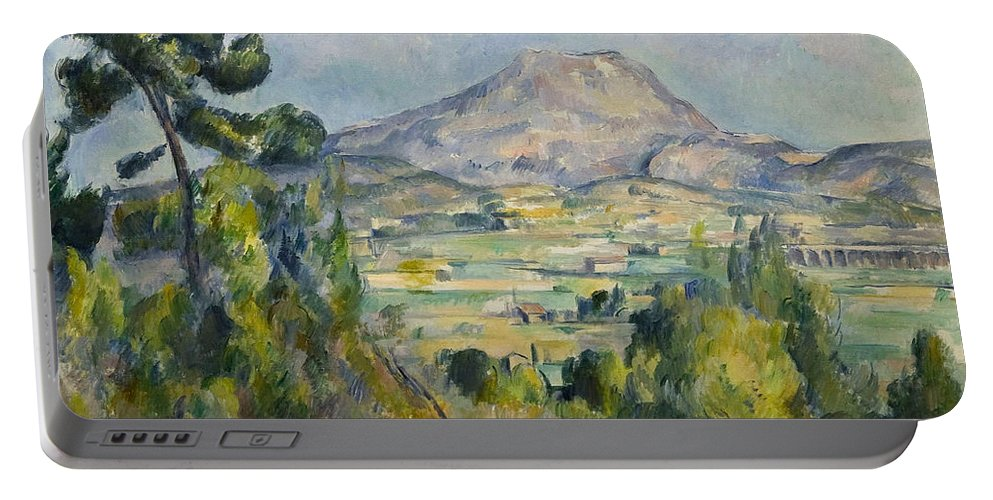 Country Portable Battery Charger featuring the painting Montagne Saint-victoire by Paul Cezanne