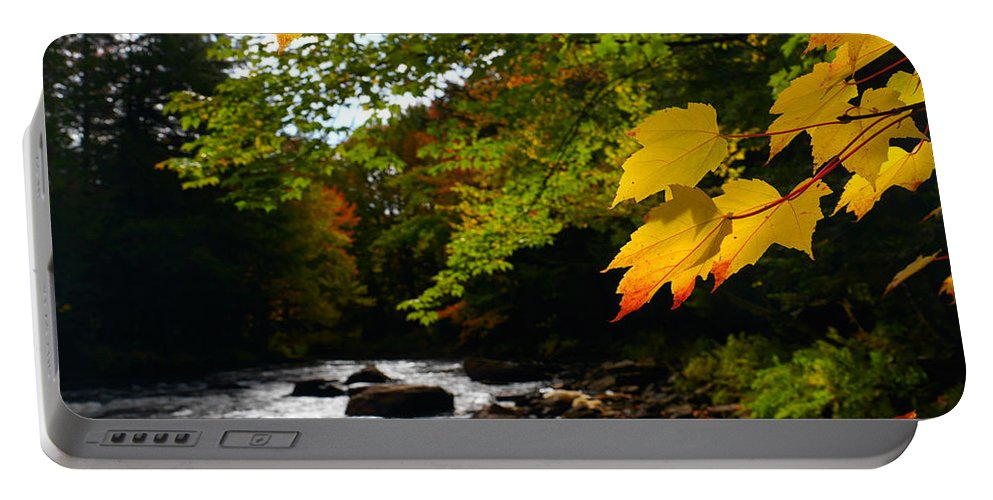 Autumn Portable Battery Charger featuring the photograph Ontario Autumn Scenery by Oleksiy Maksymenko