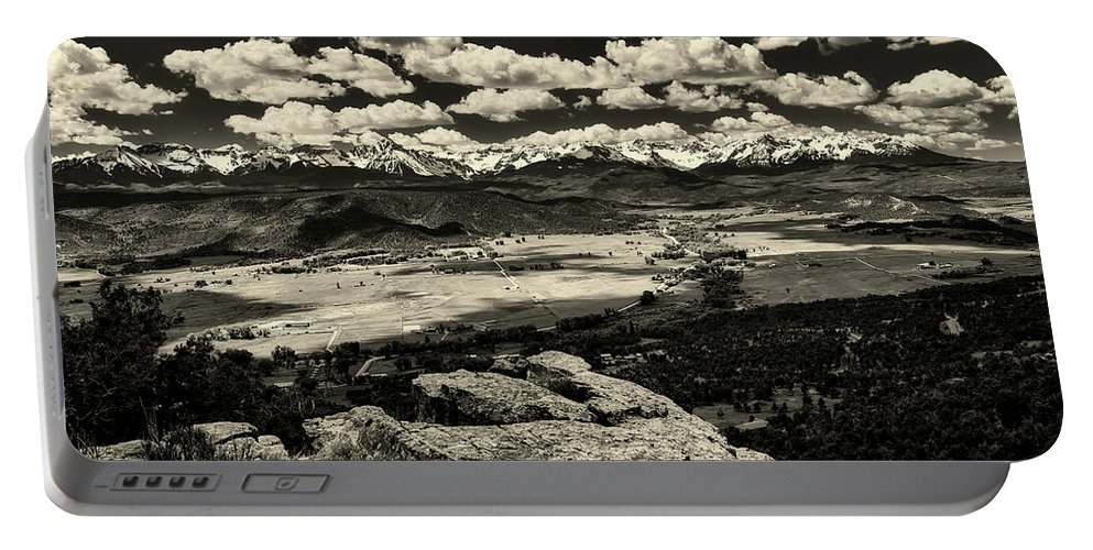 Pleasant Valley Portable Battery Charger featuring the photograph Pleasant Valley Colorado by Mountain Dreams
