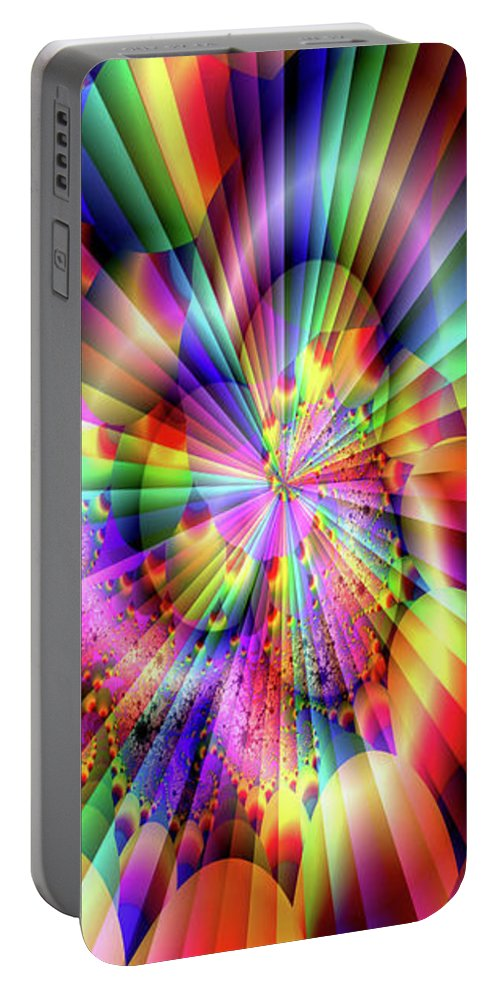 Greeting Cards Portable Battery Charger featuring the digital art Rainbow Light by Mitchell Watrous