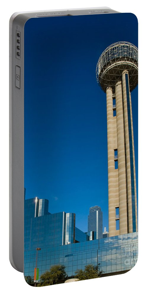America Portable Battery Charger featuring the photograph Reunion Tower - Dallas Texas by Anthony Totah