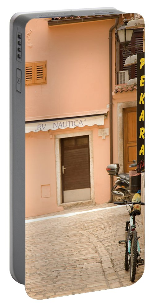 Croatia Portable Battery Charger featuring the photograph Rovinj by Ian Middleton