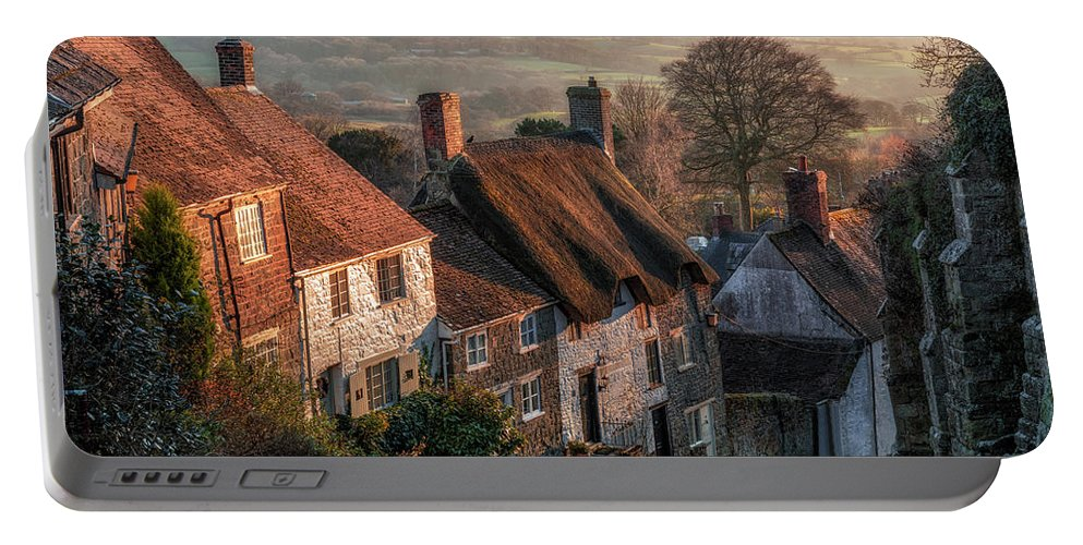 Shaftesbury Portable Battery Charger featuring the photograph Shaftesbury - England by Joana Kruse