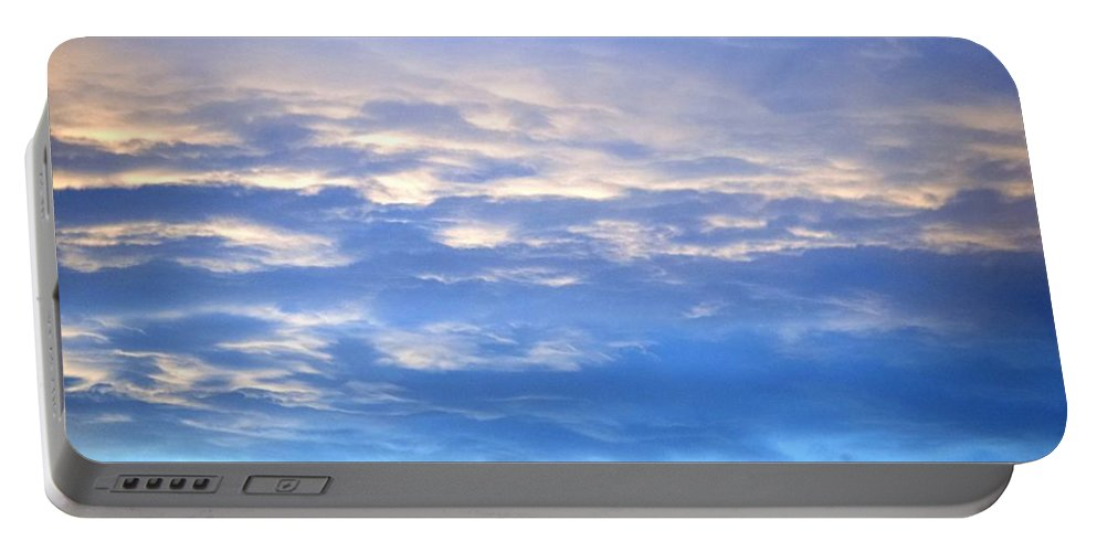 Landscape Portable Battery Charger featuring the digital art SKY by Erin Schuettler