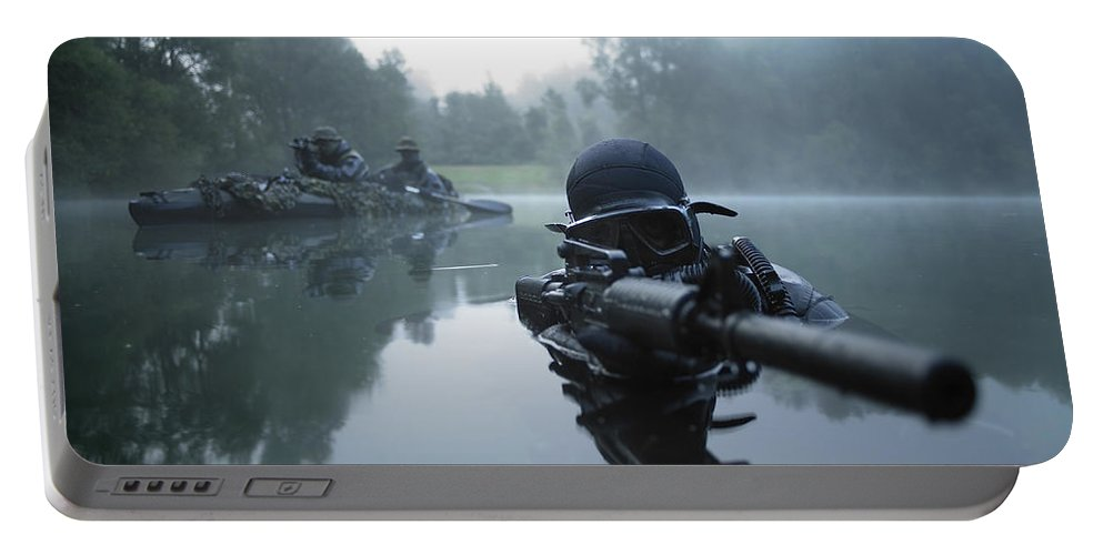 Special Operations Forces Portable Battery Charger featuring the photograph Special Operations Forces Combat Diver by Tom Weber