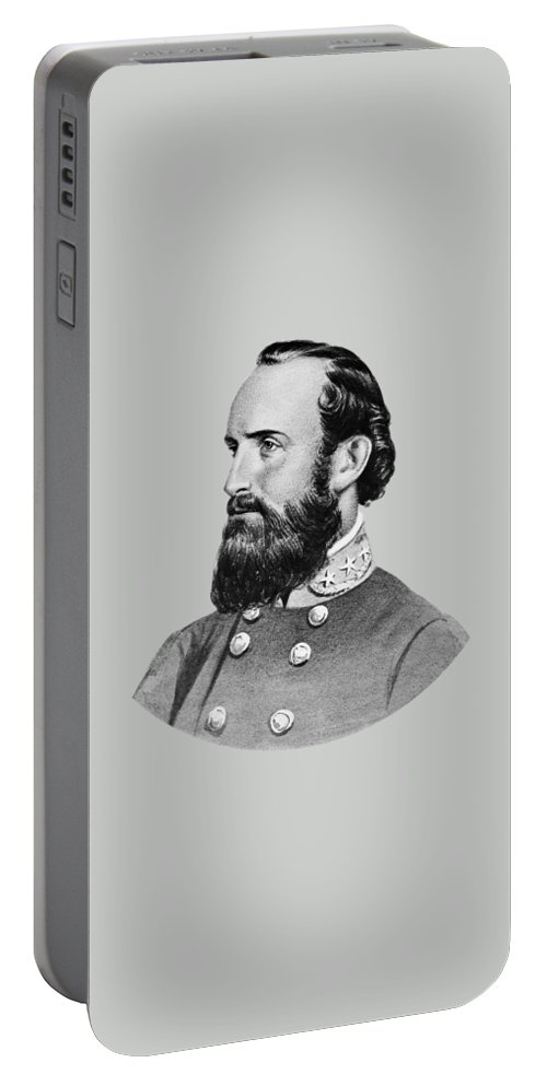 Stonewall Jackson Portable Battery Charger featuring the painting Stonewall Jackson - Six by War Is Hell Store