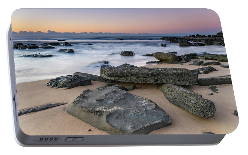 Australia Portable Battery Charger featuring the photograph Sunrise And The Sea by Merrillie Redden