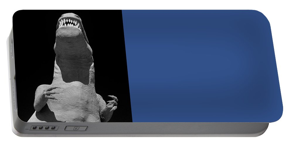Travel Portable Battery Charger featuring the photograph T Rex by Jim Corwin