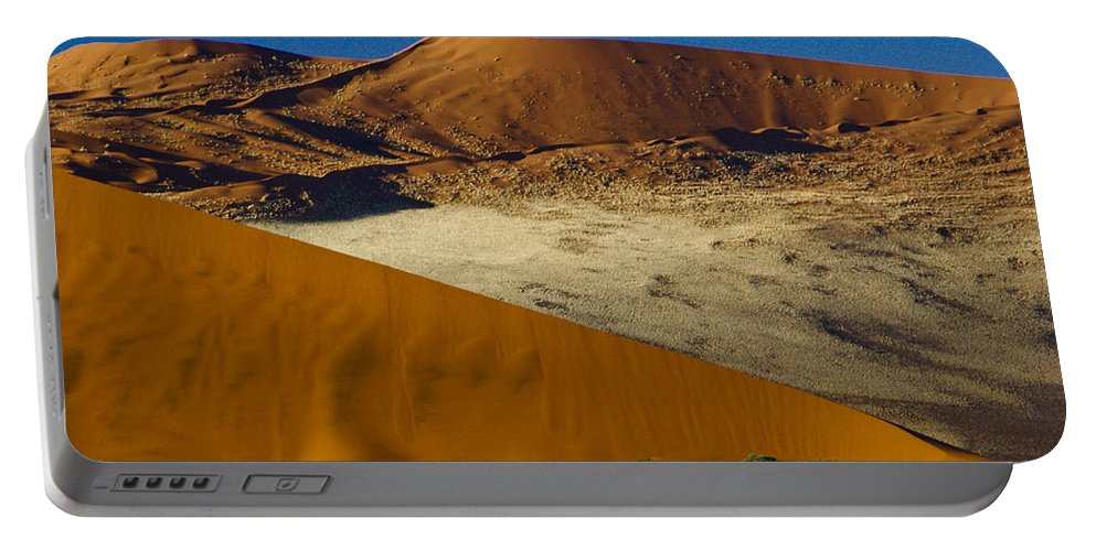 Africa Portable Battery Charger featuring the photograph The Dunes Of Sossusvlei by Michele Burgess
