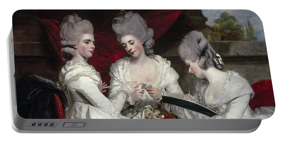 British Portable Battery Charger featuring the painting The Ladies Waldegrave by Joshua Reynolds