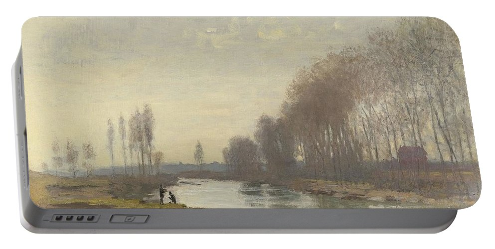 Claude Monet (french Portable Battery Charger featuring the painting The Small Branch Of The Seine At Argenteuil by Claude Monet