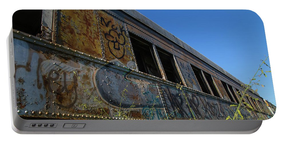 Train Art Portable Battery Charger featuring the photograph Train Art by Dart Humeston