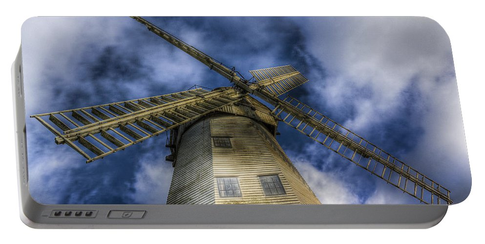 Windmill Portable Battery Charger featuring the photograph Upminster Windmill Essex by David Pyatt