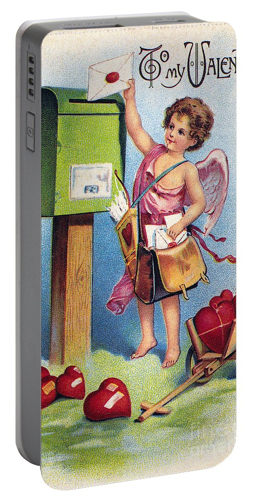 1909 Portable Battery Charger featuring the photograph Valentines Day Card by Granger