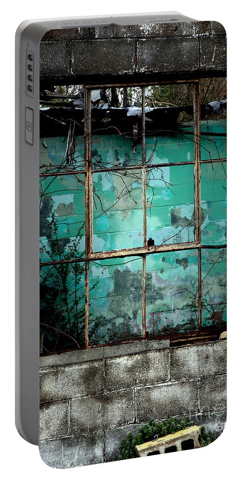 Windows Portable Battery Charger featuring the photograph Window by Amanda Barcon
