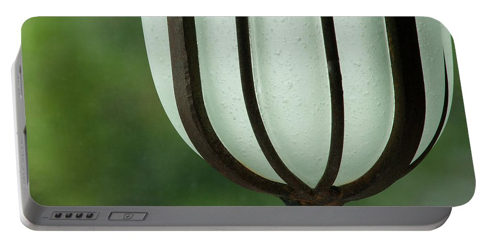 Decorative Portable Battery Charger featuring the photograph Window Sill Decoration by Heiko Koehrer-Wagner