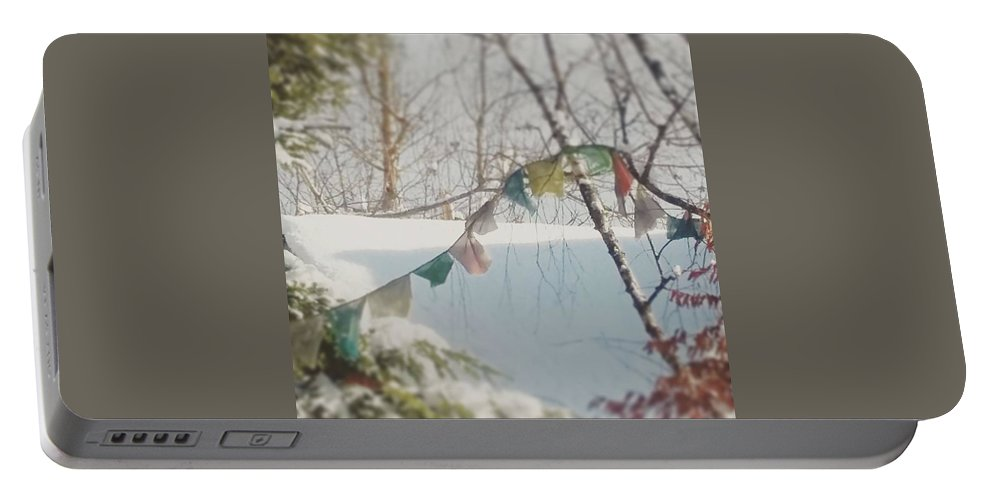 Portable Battery Charger featuring the photograph Winter by Sebastien Braillon