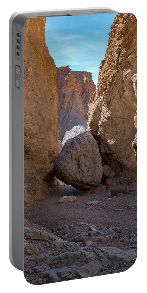 Death Valley Ca Portable Battery Charger featuring the photograph 30 Foot Rock Natural Bridge Trail Death Valley Ca by Michael Bessler