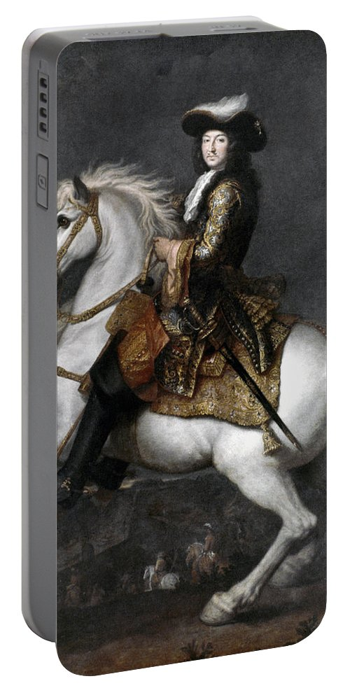 1674 Portable Battery Charger featuring the photograph Louis Xiv (1638-1715) by Granger