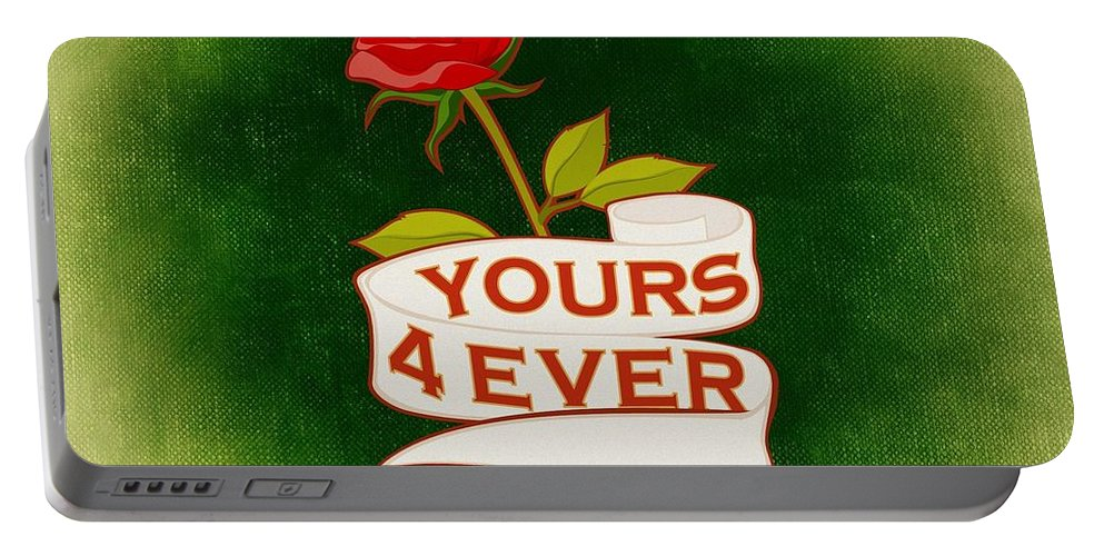 Valentine Portable Battery Charger featuring the mixed media Valentines by FL collection