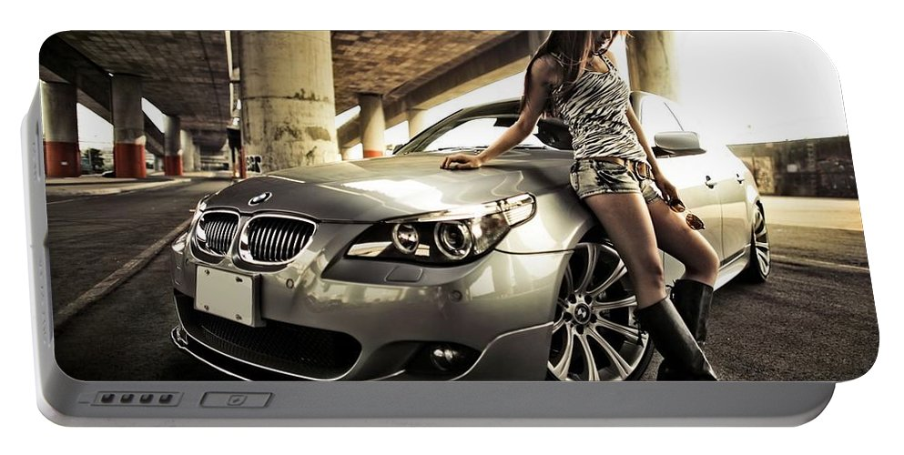 Bmw Portable Battery Charger featuring the photograph BMW by Jackie Russo