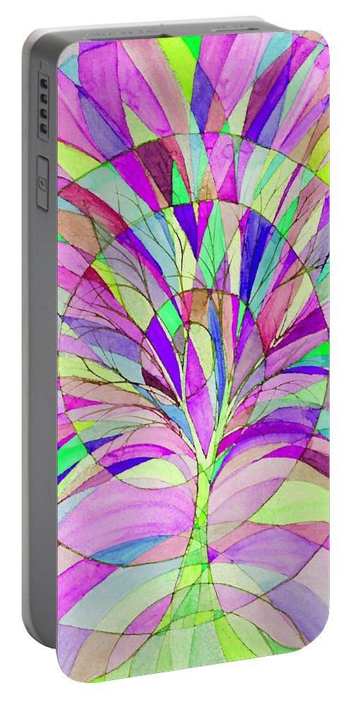 Tree Of Life Portable Battery Charger featuring the digital art Tree Of Life by Sandrine Kespi