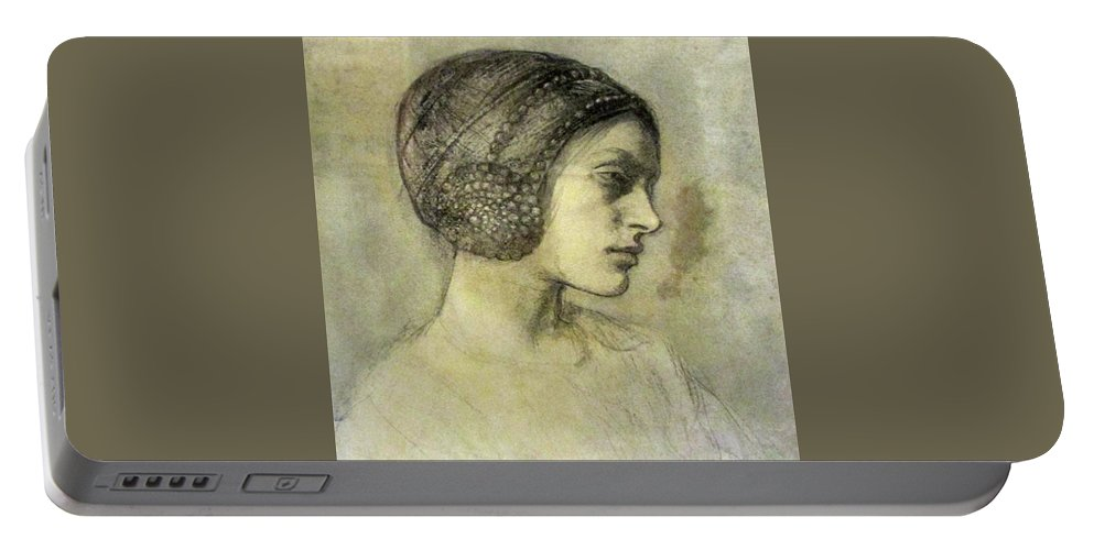 Ambrose Mcevoy Ara (1878 � 1927) Portrait Of A Lady (said To Be Anais Portable Battery Charger featuring the painting Portrait Of A Lady by MotionAge Designs