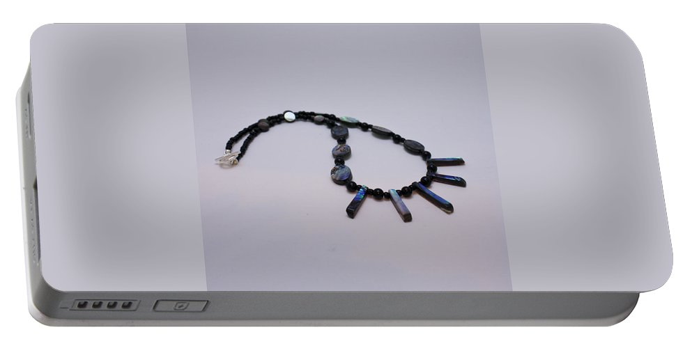 Jewelry Portable Battery Charger featuring the jewelry 3513 Abalone Shell Necklace by Teresa Mucha