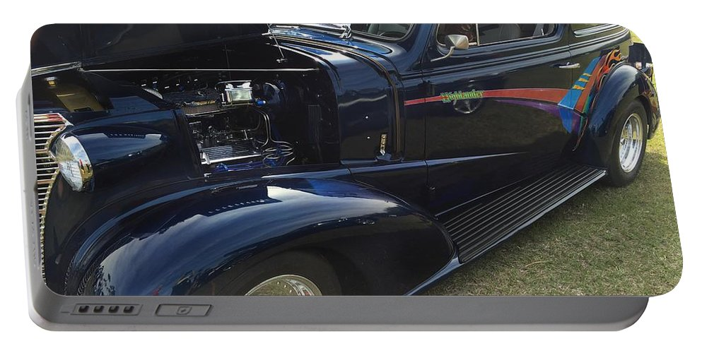 1938 Chevy Portable Battery Charger featuring the photograph 38 Chevy Sedan by Anne Sands