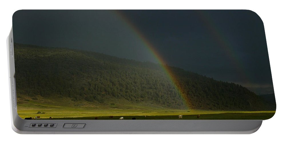 Rainbow Portable Battery Charger featuring the photograph 395 Magic by Misty Tienken