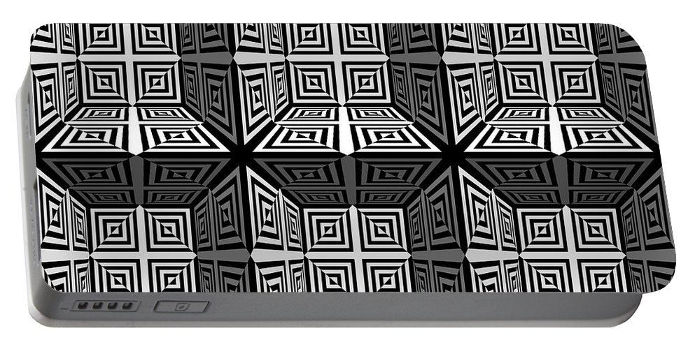 S Portable Battery Charger featuring the digital art 3d 253d2 by Mike McGlothlen